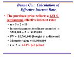 beane co calculation of effective interest rate
