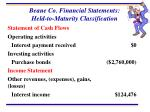 beane co financial statements held to maturity classification