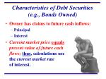 characteristics of debt securities e g bonds owned