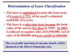 determination of lease classification64