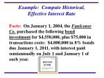 example compute historical effective interest rate