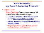 lease receivable and lessor s accounting treatment