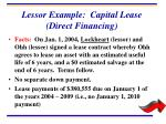 lessor example capital lease direct financing