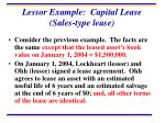 lessor example capital lease sales type lease
