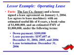 lessor example operating lease