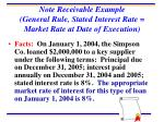 note receivable example general rule stated interest rate market rate at date of execution