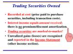 trading securities owned