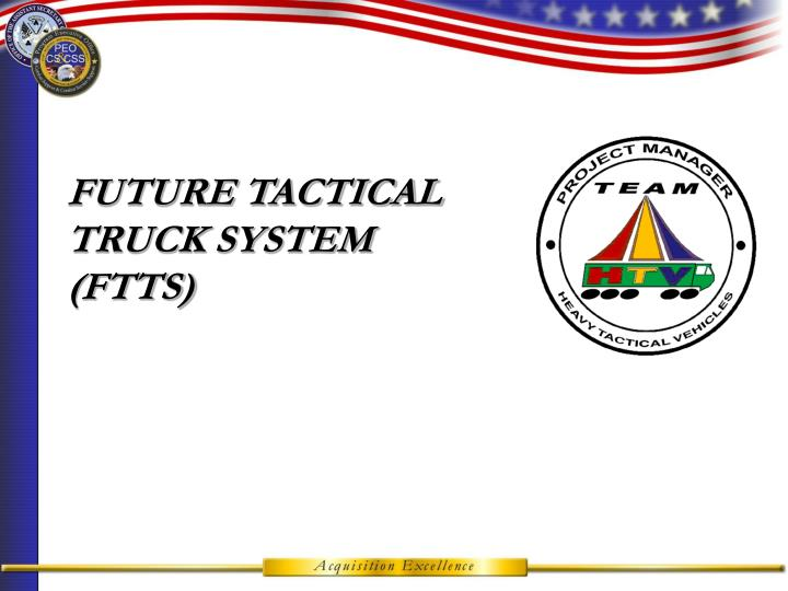 Future tactical truck system ftts
