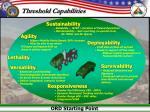 threshold capabilities