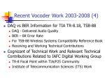 recent vocoder work 2003 2008 4