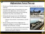 afghanistan force plus up