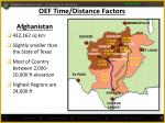 oef time distance factors