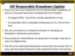 oif responsible drawdown update