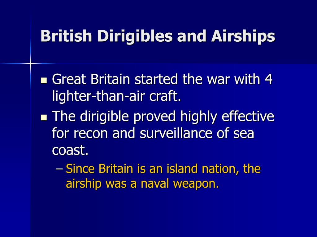 British Dirigibles and Airships