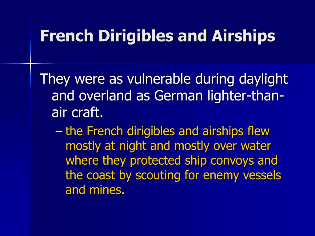 French Dirigibles and Airships