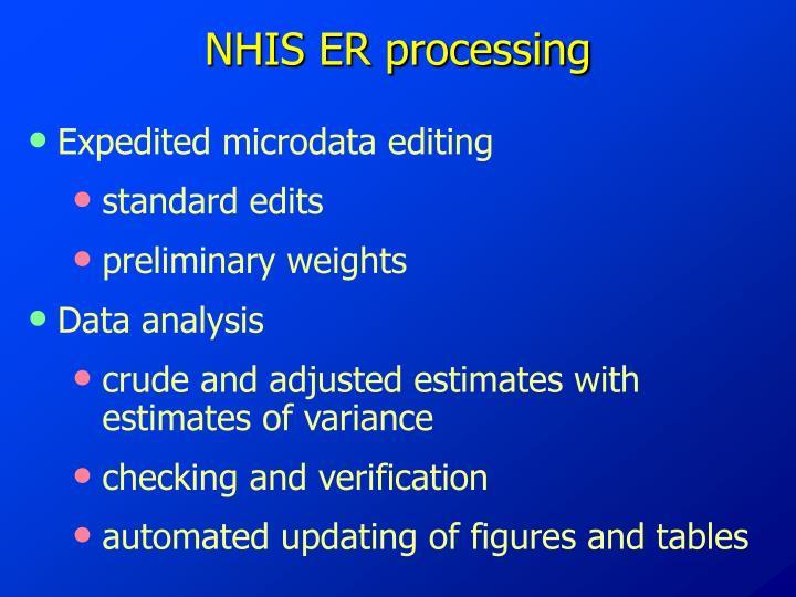 NHIS ER processing
