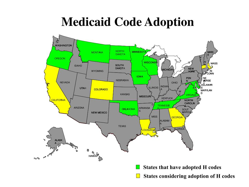 Medicaid Code Adoption