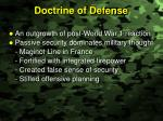 doctrine of defense