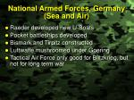 national armed forces germany sea and air