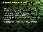 national armed forces u s land