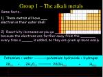 group 1 the alkali metals25