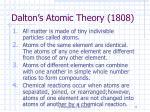 dalton s atomic theory 1808