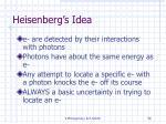 heisenberg s idea