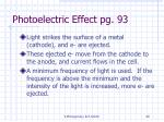 photoelectric effect pg 93