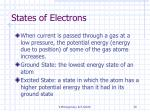 states of electrons