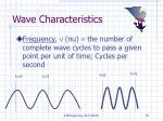 wave characteristics19