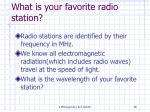 what is your favorite radio station