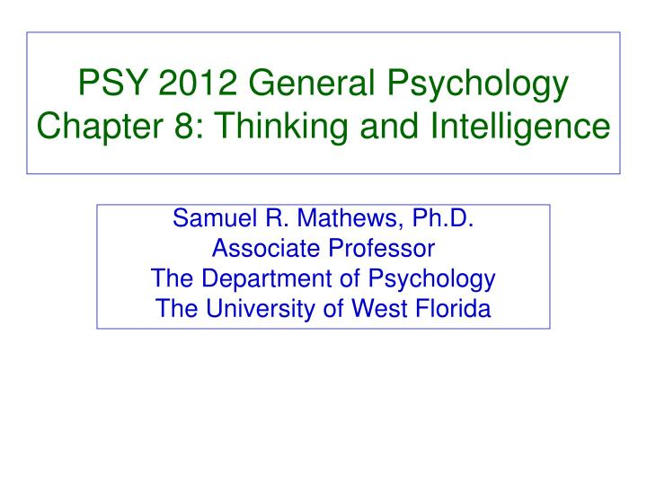 thinking and intelligence psychology