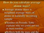 how do you calculate average atomic mass