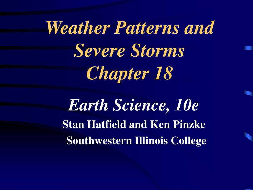 Weather Patterns and Severe Storms