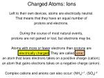 charged atoms ions