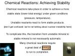 chemical reactions achieving stability