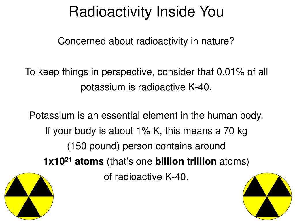 Concerned about radioactivity in nature?