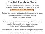 the stuff that makes atoms