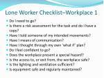 lone worker checklist workplace 1