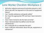 lone worker checklist workplace 2