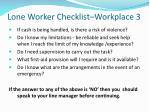 lone worker checklist workplace 3