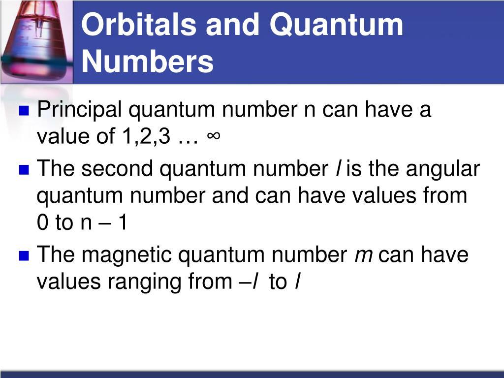 Orbitals and Quantum Numbers