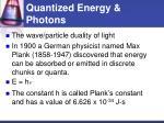 quantized energy photons