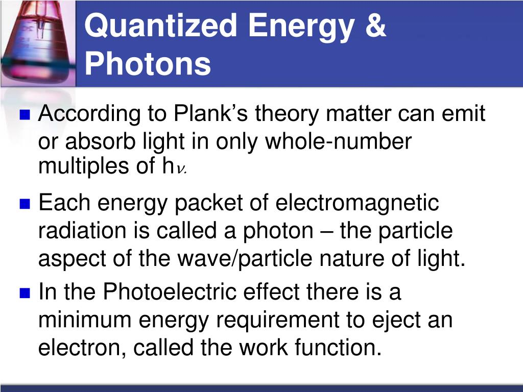 Quantized Energy & Photons
