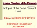 atomic numbers of the elements47