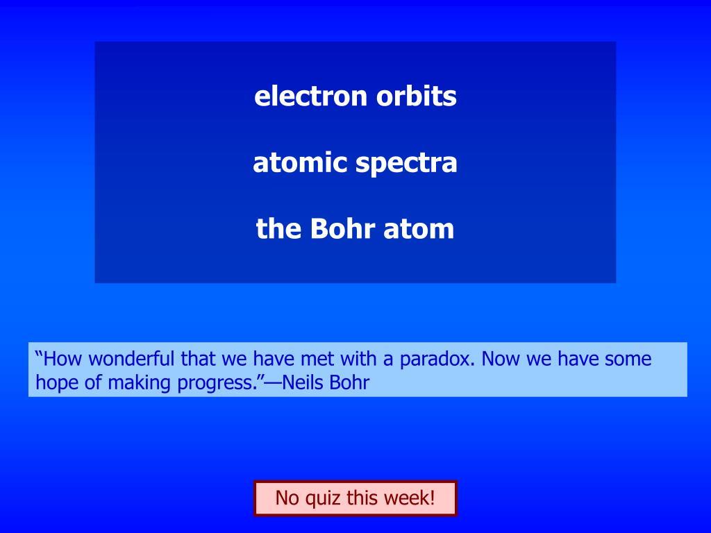 electron orbits