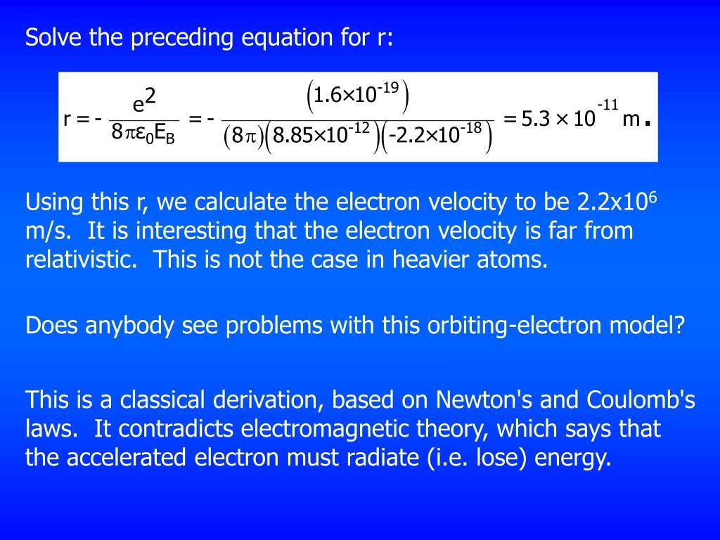 Solve the preceding equation for r: