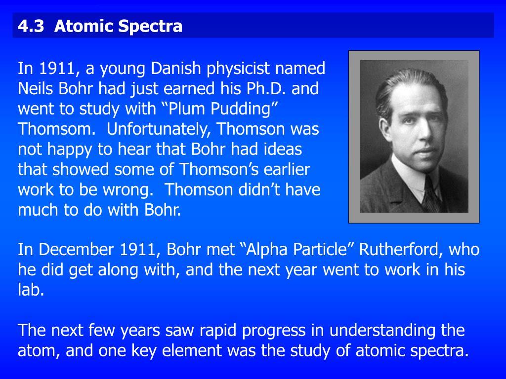 4.3  Atomic Spectra