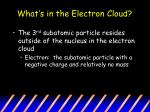 what s in the electron cloud
