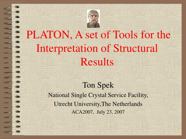 Platon a set of tools for the interpretation of structural results